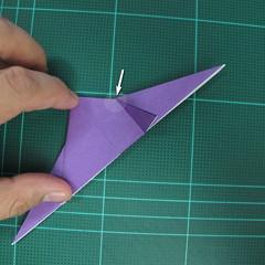 วิธีพับกระดาษเป็นรูปนกอินทรี (Origami Eagle) 004