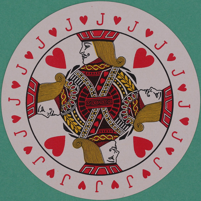 Discus Round Playing Card Jack of Hearts