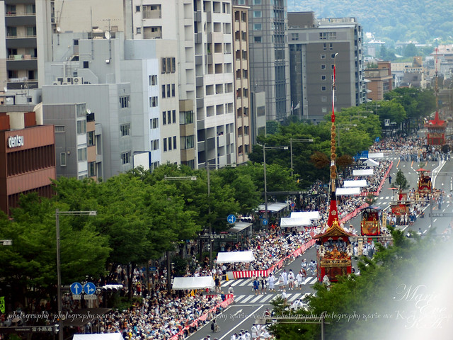 Kyoto Gion Festival parade of decorated floats 2013