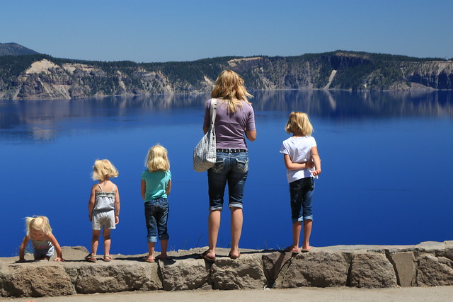 A Bevy of Blonde Beauties at Crater Lake