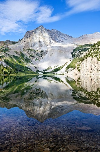 lake reflection colorado peak aspen snowmass