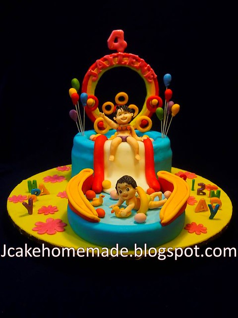 Slide birthday cake
