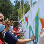 Over 50 youth from Albania, Greece, Bulgaria, Macedonia, Kosovo, Serbia, Montenegro, Bosnia and Herzegovina, Croatia and Slovenia came together to learn how art can influence advocacy to solve their burning societal issues. From comic strips, and data visualization to graffiti and stencils, they learnt how to use different art techniques during the Art and Design for Advocacy training which took place in Ohrid, Macedonia from 22-28 June 2015.