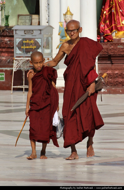 Young Monk & Old Monk, Myanmar