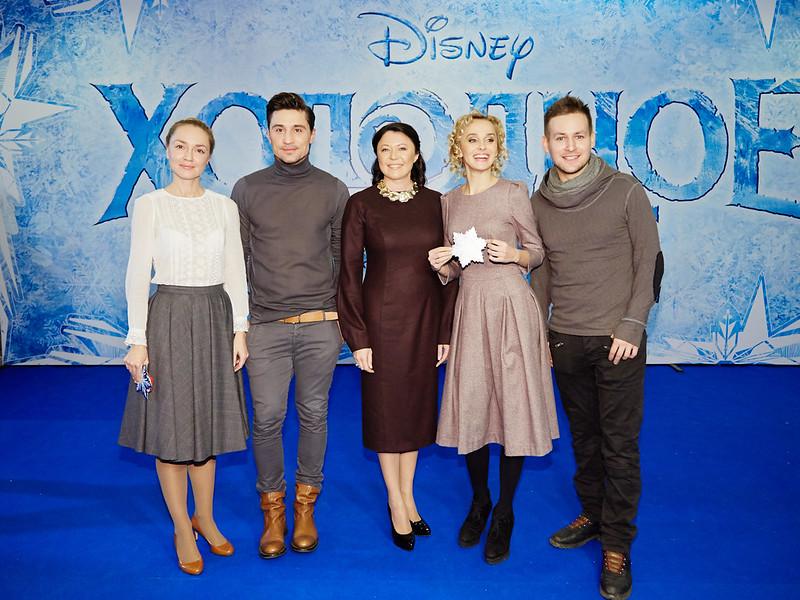 FROZEN_Moscow Premiere_Anna Buturlina,Dima Bilan, Marina Zhigalova-Ozkan,Anna Bystrova,Andrey Birin_1