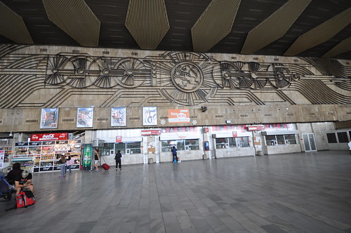 Sofia Central Railway Station and its large Art Deco sculptural wall mural | by Jorge Lascar