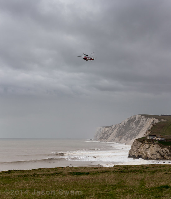Surf rescue on the Isle of Wight