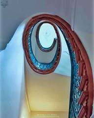 Spiraling stairway