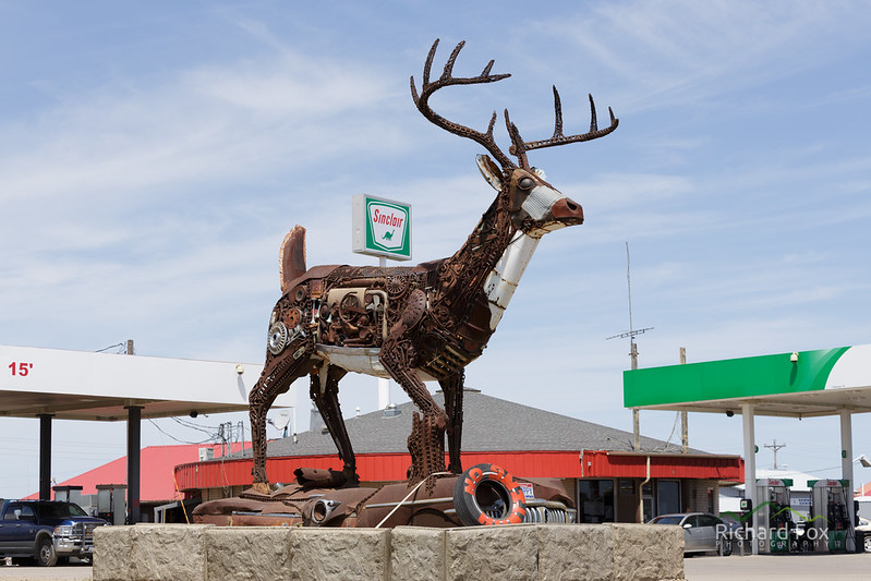 Reindeer made of junk