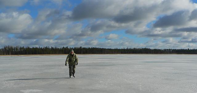 Ice skating on Lake Mulkkujärvi