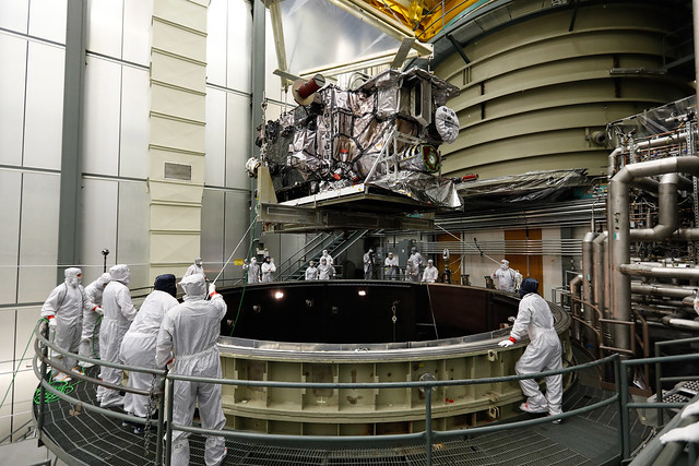 GOES-S Above the Thermal Vacuum Chamber