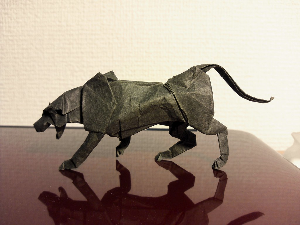 3D Paper Panther Character Illustration - Illustration Agent | 768x1024