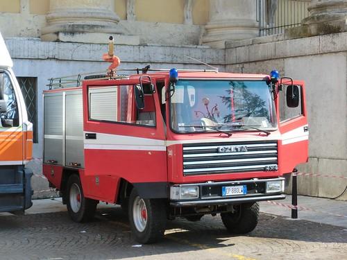Ozeta Fire Appliance Of The Verona Arena Theatre Fire Serv