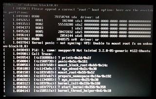 Linux boot problem   by Daniel Bowen