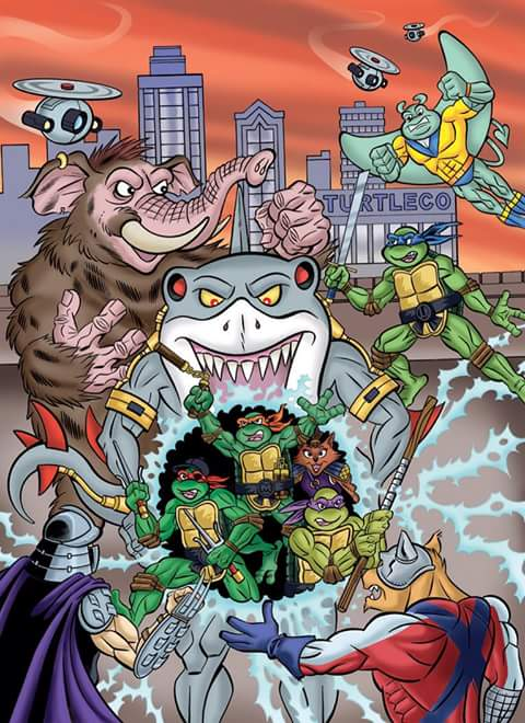 TEENAGE MUTANT NINJA TURTLES ADVENTURES Archives Vol. 10; Colour - Pencils & color by Steve Lavigne, inks by Ryan Brown (( 2015 )) by tOkKa