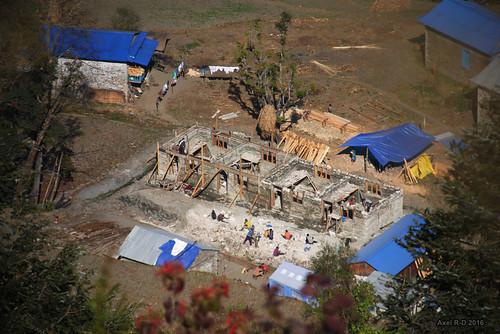bâtiment construction leblu nepal préci salyanvdc solukhumbu village école