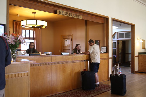 Mammoth Hot Springs Hotel, registration desk | by YellowstoneNPS