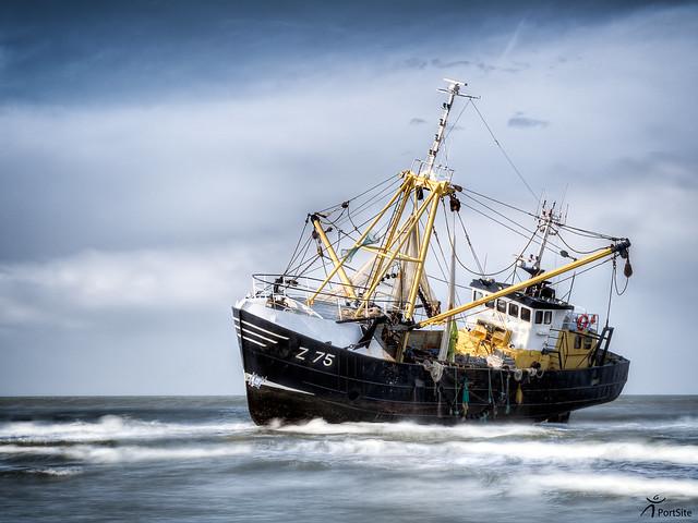 Z75 Zeldenrust stranded at Petten