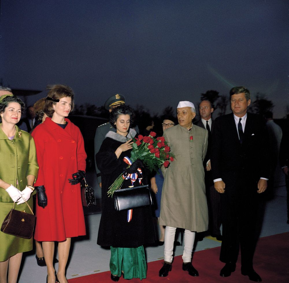 129-2  Jackie Kennedy red coat +navy dress ensemble | Flickr