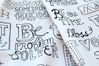 New Years Resolutions Design Challenge Top Ten: Manifesto by jenimp | by Spoonflower Fabrics