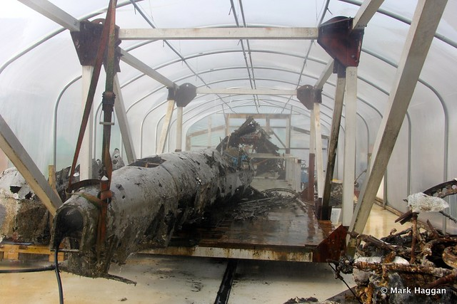 The Dornier Do-17 recovered from the English Channel in June 2013