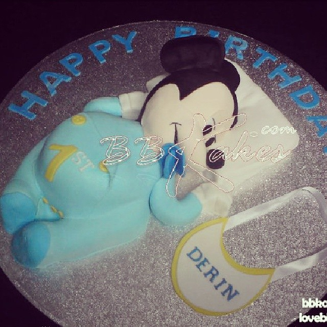 Enjoyable Baby Mickey Mouse Cake By Bbakes Tbt Cake Mickeymouse Funny Birthday Cards Online Alyptdamsfinfo