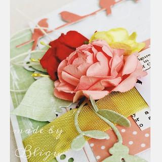 .:still wedding congratulations  #bligu #handmade #handmadecards #sneakpeak #scrapbooking #magnoliadies #uhkgallery #piatek13 #piątektrzynastego #weddingcard #flowers