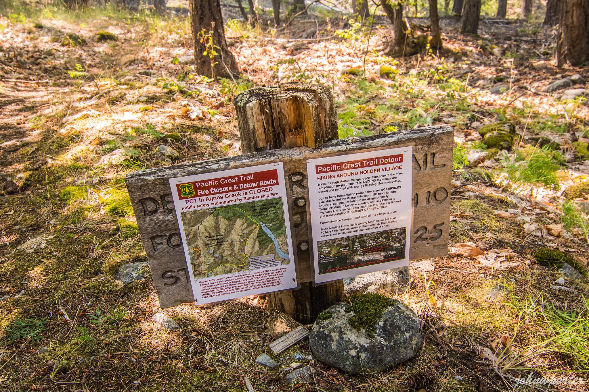 Pacific Crest Trail detour