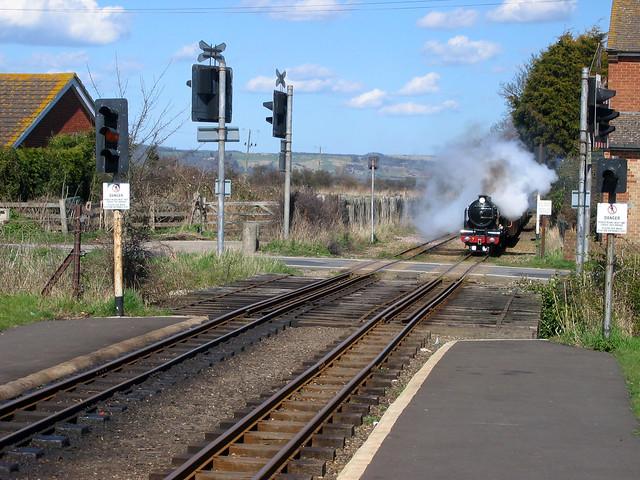 The Romney Hythe and Dymchurch railway at Dymchurch