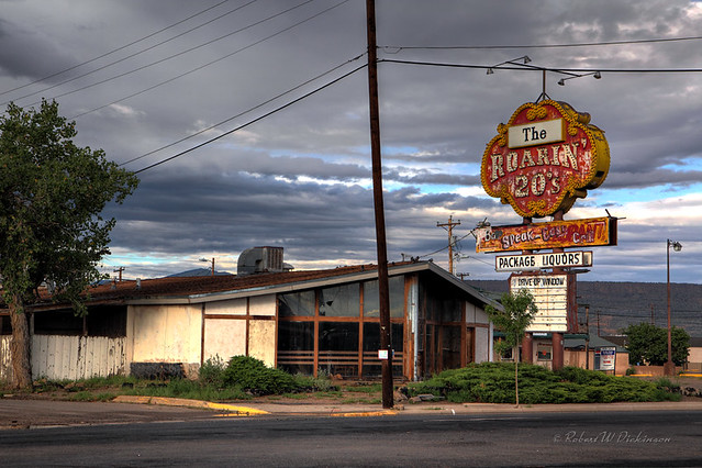 The Roarin' 20's on Route 66 in Grants, New Mexico in HDR