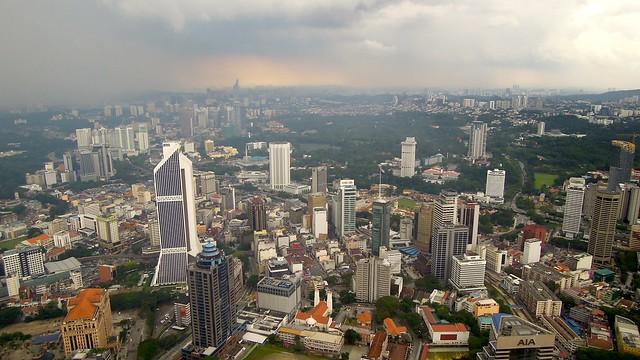 Rain clouds over Kuala Lumpur, Malaysia