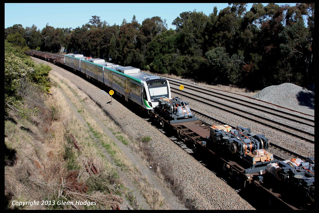 Trans Perth B Series EMU set on PN freight with long journey ahead to Perth by glenn5108