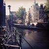 rondvaartboot + brug = boem, gisteren