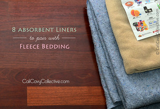 8 absorbent liners to pair with fleece | by Cali Cavy Collective