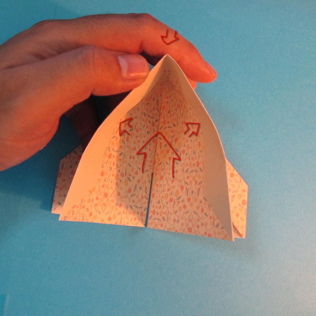วิธีพับกระดาษเป็นผีเสื้อหางแฉก 022