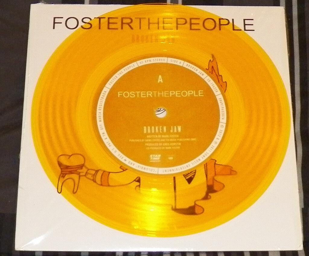 Foster the People - Broken Jaw b/w Ruby vinyl | Patrick
