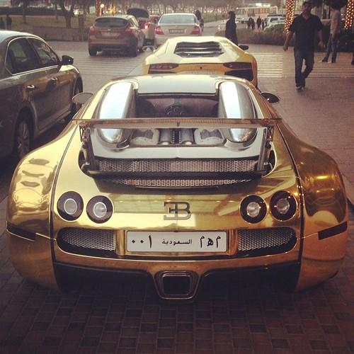 Gold Bugatti Only In Dubai #Gold #bugatti #Dxb #Dubai #uae