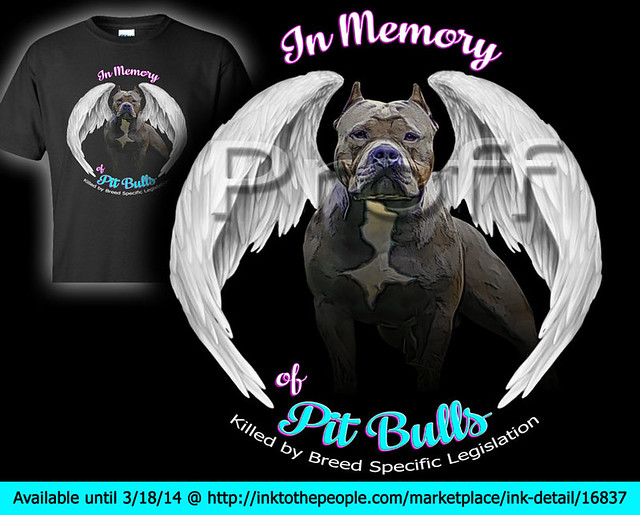 In Memory of Pit Bulls killed by Breed Specific Legislation, BSL, T-shirts
