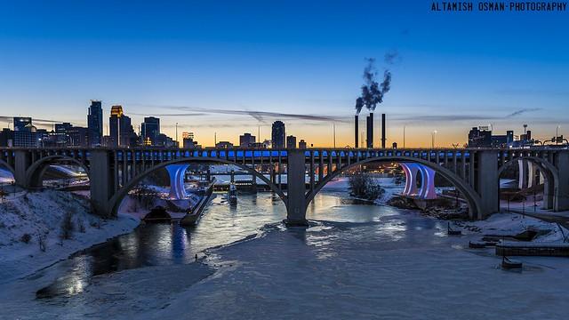 Blue Hour Minneapolis