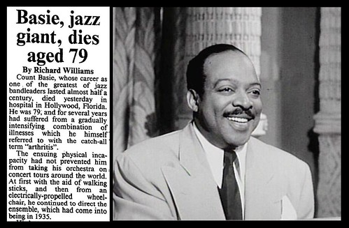 26th April 1984 - Death of Count Basie | by Bradford Timeline