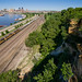Jib at the Bluffs; St. Paul, MN by Ottergoose