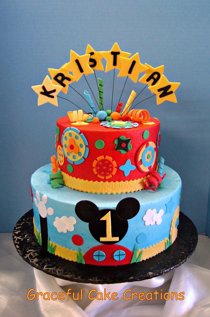 Cool Mickey Mouse Club House Birthday Cake Grace Tari Flickr Funny Birthday Cards Online Hendilapandamsfinfo