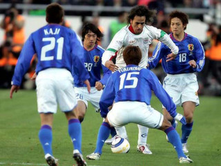 Ali Karimi during their the World Cup 2006 qualifying match in Tehran. (iran 2- japan 1)