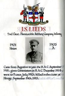 Leeds, John Stanley (1887-1915) | by sherborneschoolarchives