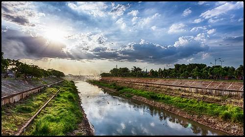 sunset indonesia landscape jakarta hdr bkt ef1740mmf4lusm eastjakarta banjirkanaltimur