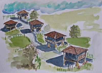 """""""5 de hórreos"""". Asturias (Spain)"""