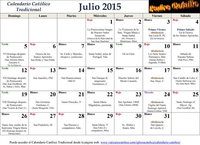 Evangelios y Lectura del  mes Julio 2015  ( Dedicatoria al P.Cotallo )