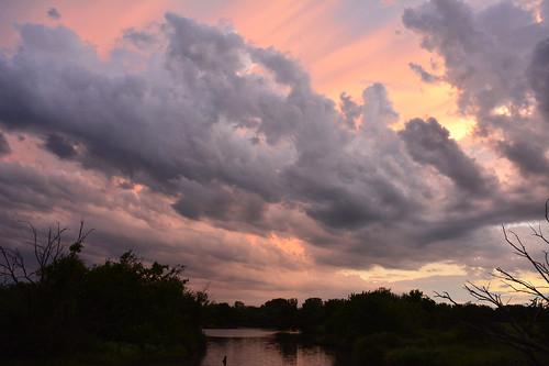 sunset storm kansas wichita chisholmcreekpark