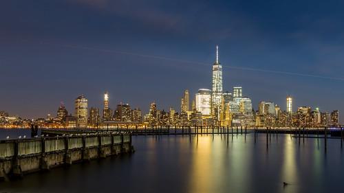 nyc freedomtower bigapple manhattan lowermanhattan newyorkcity newyork longexposure skylines skyscraper sunset skyline canonef24105mmf4lisusm canon canoneos5dmarkiii usa architecture pier travel cityscape