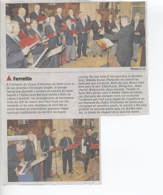 Article de presse, Ferrette